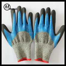 Morewin Brand colored Nitrile dipped rubber coated gloves labor safety Protective glove
