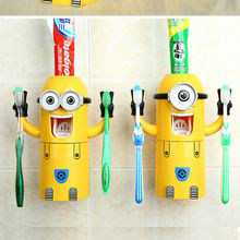Plastic kids no touch wall mounted minions toothpaste dispenser lego star