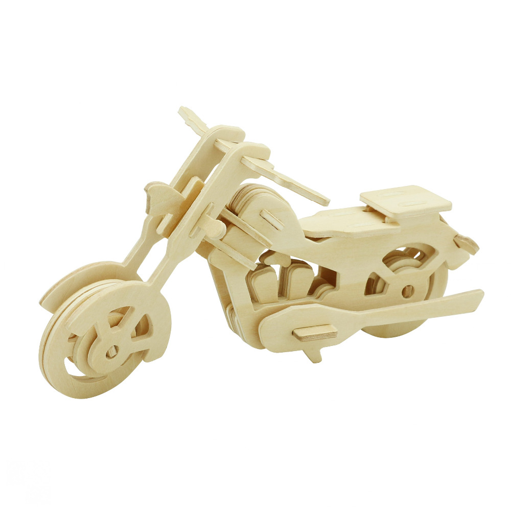3D Wooden Puzzle Motocycle Toy Kids Educational Games