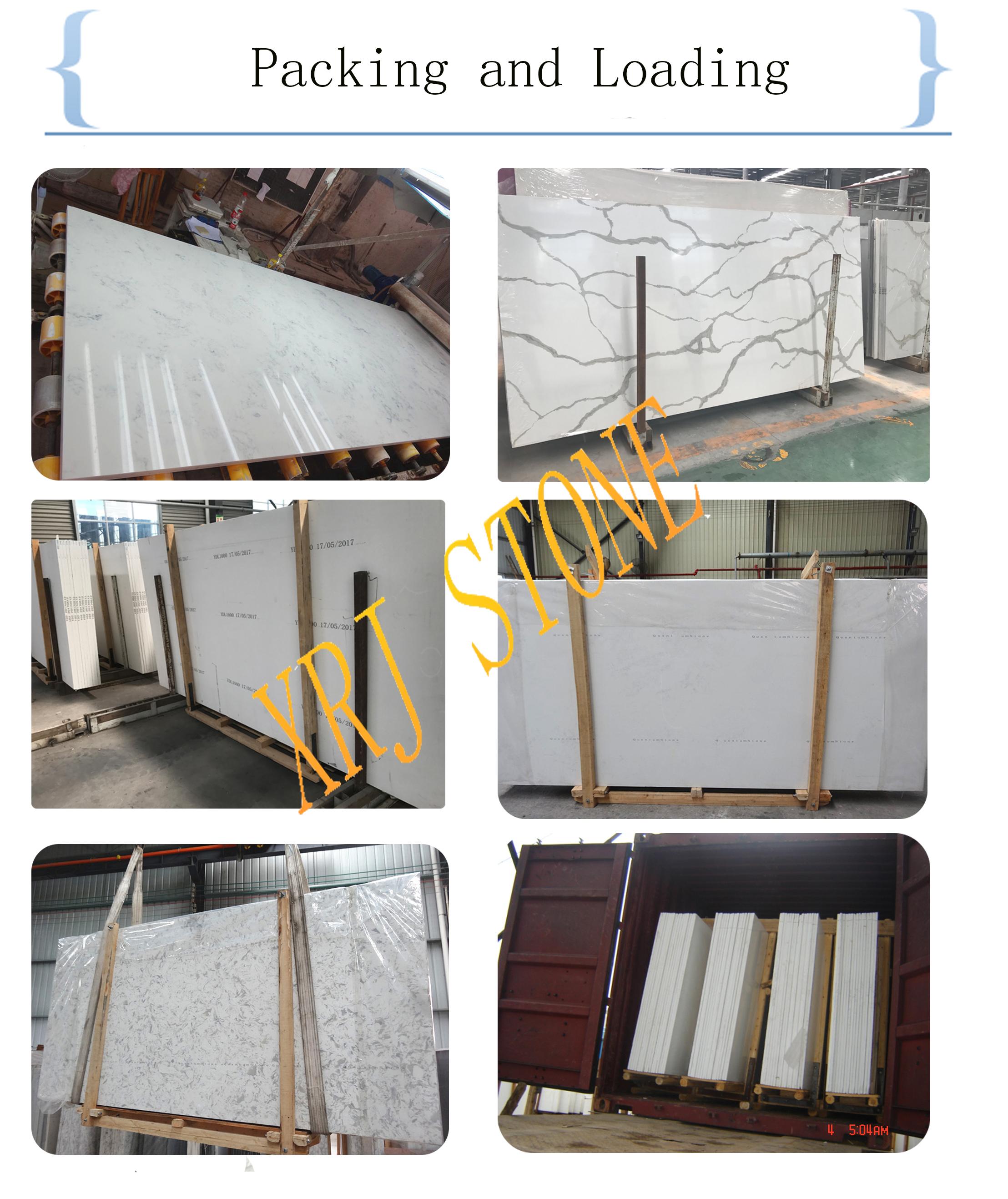 Factory Price r Artificial Calacata White  Quartz Slab