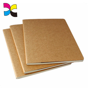 Recycling soft cover brown kraft paper blank notebook with no spiral