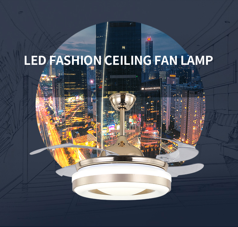 Best selling best price high quality invisible blade ceiling fan light