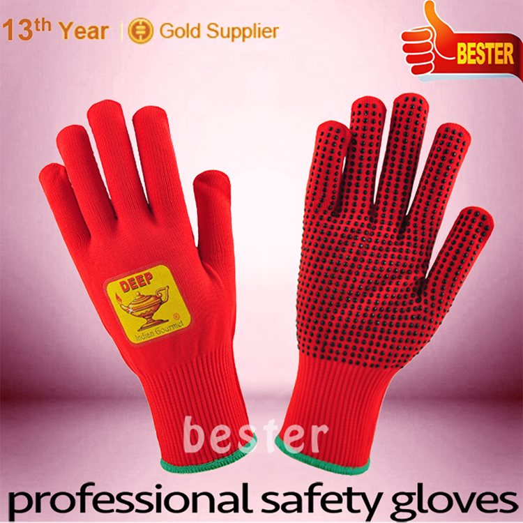 Best price top quality heart shape touch screen knitting gloves