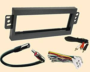 Radio Stereo Install Single Din Dash Kit + wire harness + antenna adapter for GMC Jimmy 1998 1999 2000 2001, GMC Sonoma 1998, Isuzu Hombre 98 99 2000, Oldsmobile Bravad 1998 1999 2000, Silhouette 97 98 99, Pontiac Trans Sport 97-99