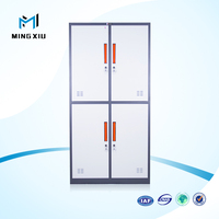 China mingxiu low price used steel lockers cabinets / 4 door cupboard