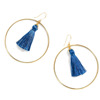 China Supplier Gold Jhumka Women Silk Thread Hoop Earring, New Lady Tassel Stud Earring Design Pictures