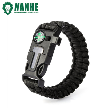 Multifunctional Survival Paracord Bracelet With Compass Whistle ... e614b0914f6