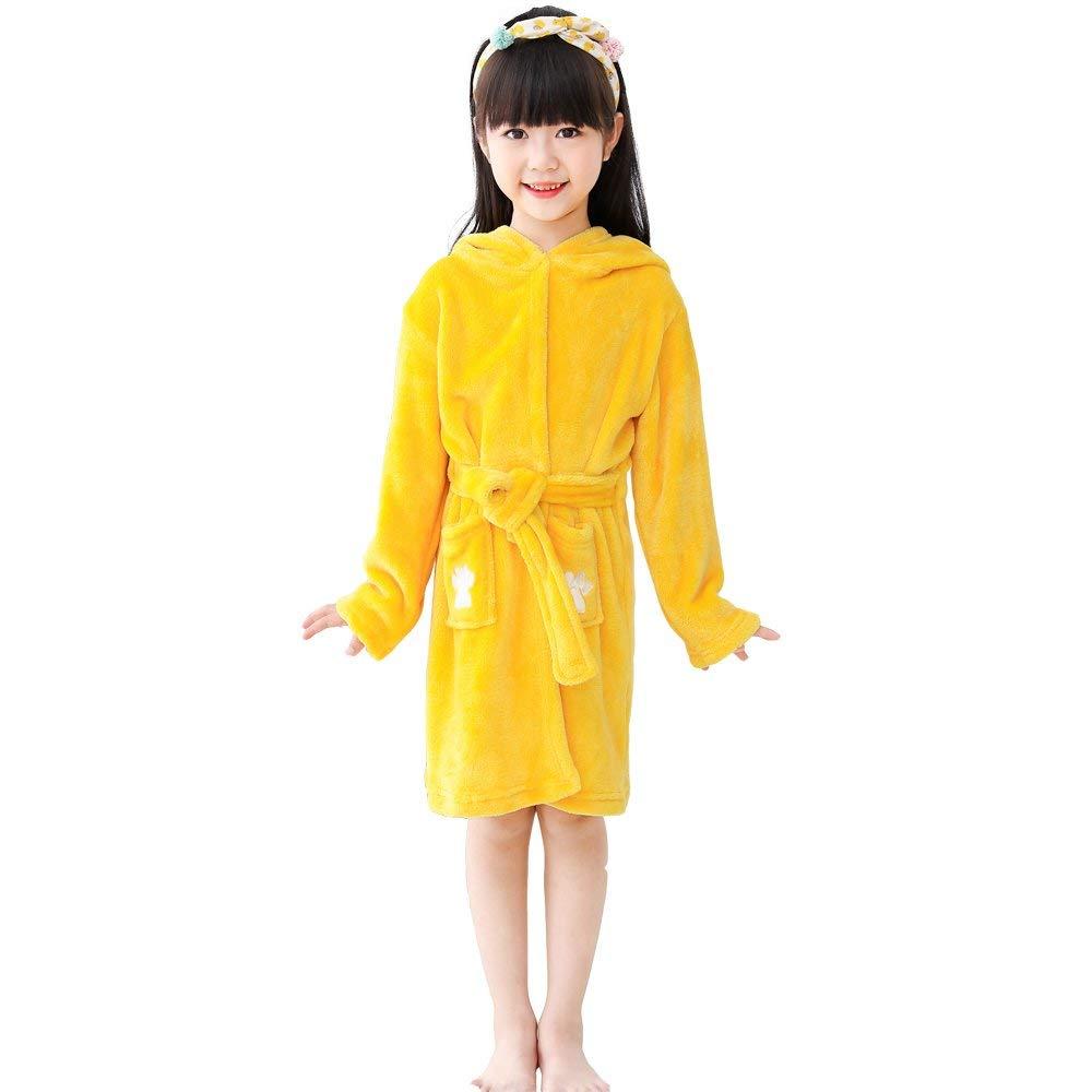 Get Quotations · LANTOP Kids Soft Bathrobe Comfy Unicorn Flannel Robe  Unisex Hooded Gift All Seasons Sleepwear 52e3674e7