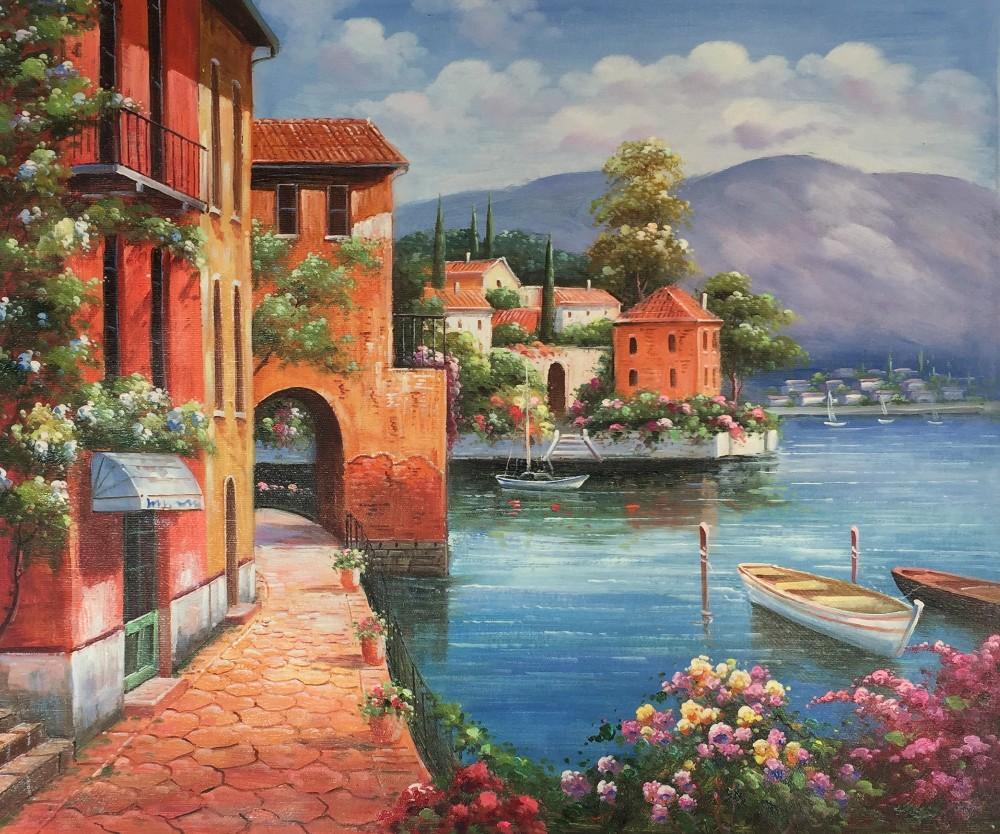 Gro handel mediterrane wandmalerei kaufen sie die besten mediterrane wandmalerei st cke aus - Mediterrane gartendeko ...