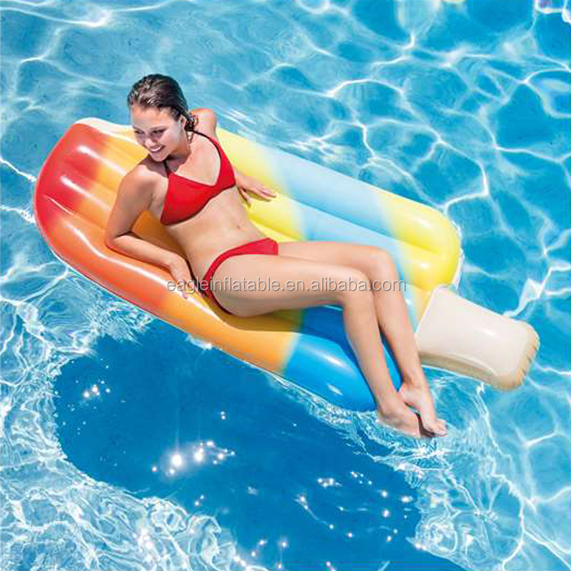 Fatory supply hot selling cheap summer swimming inflatable float giant inflatable ice cream float for adults