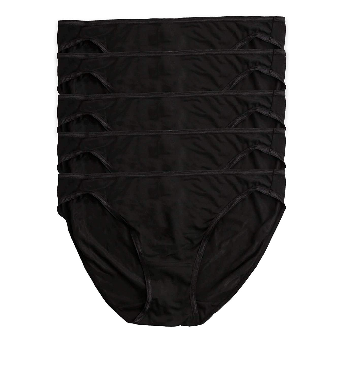 6cf9da96e03d Get Quotations · Felina Women's So Smooth Low Rise Soft Comfy Bikini Panties  5-Pack 4-Colors