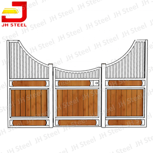Steel Frame Bamboo Lower Part Material Horse Stable Horse Boxes