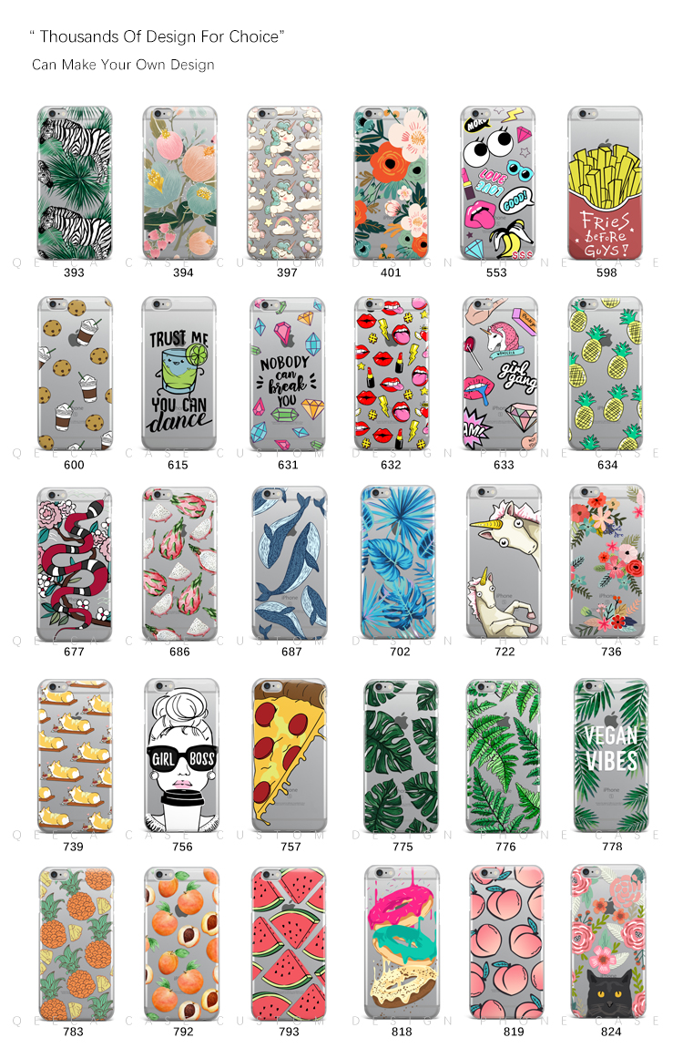 Designer manufacture TPU / PC clear transparent printing custom design cell phone case for iPhone 6/7/8/7 plus/X/XR/XS Max