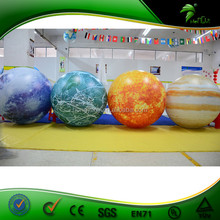 LED Lighting Decorative Inflatable Nine Planets Hanging Inflatable Solar Systerm Balloon Inflatable Moon Globe