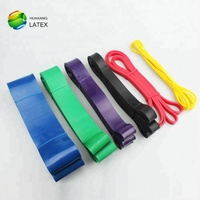 Wholesale latex 5 levels rubber loop resistance band, stretch cross fit loop bands