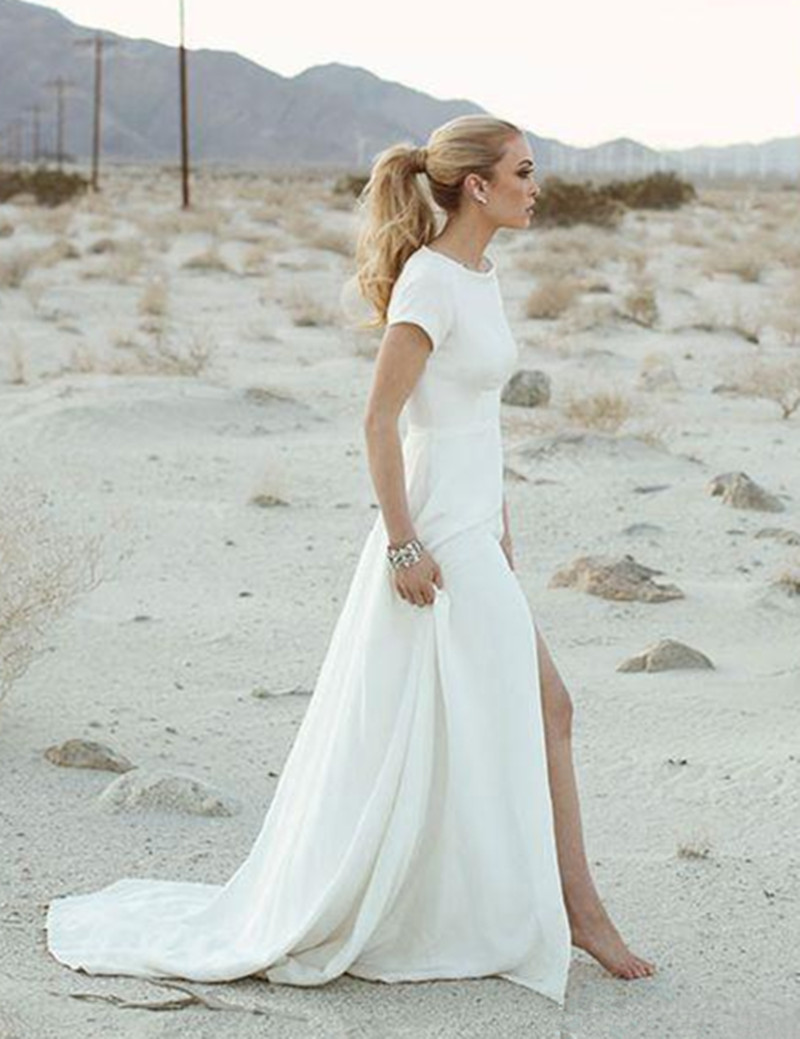 Beach Wedding Dresses Casual Short Cheap Wedding Dresses