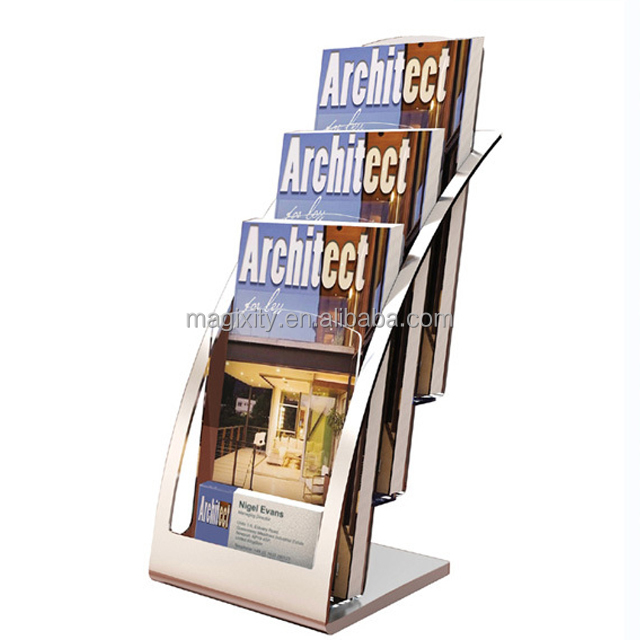 A3 A4 A5 Porta Depliant Brochure Display Stand Plexiglass Acrilico Brochure Holder Stand
