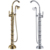 Gold Free Standing Bathtub Faucet Works Well With Clawfoot & Pedestal Tubs faucet