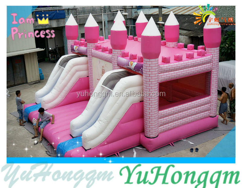 Customize Beautiful Castle Inflatable Bounce House/ Bouncy Castle commercial inflatable bounce combo with slide