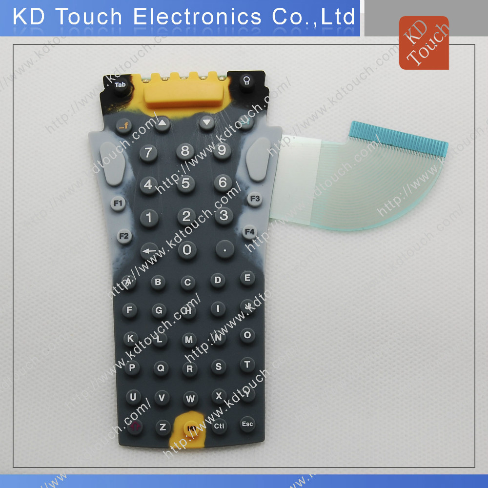 Customized Elastomer Rubber membrane switch with many keys