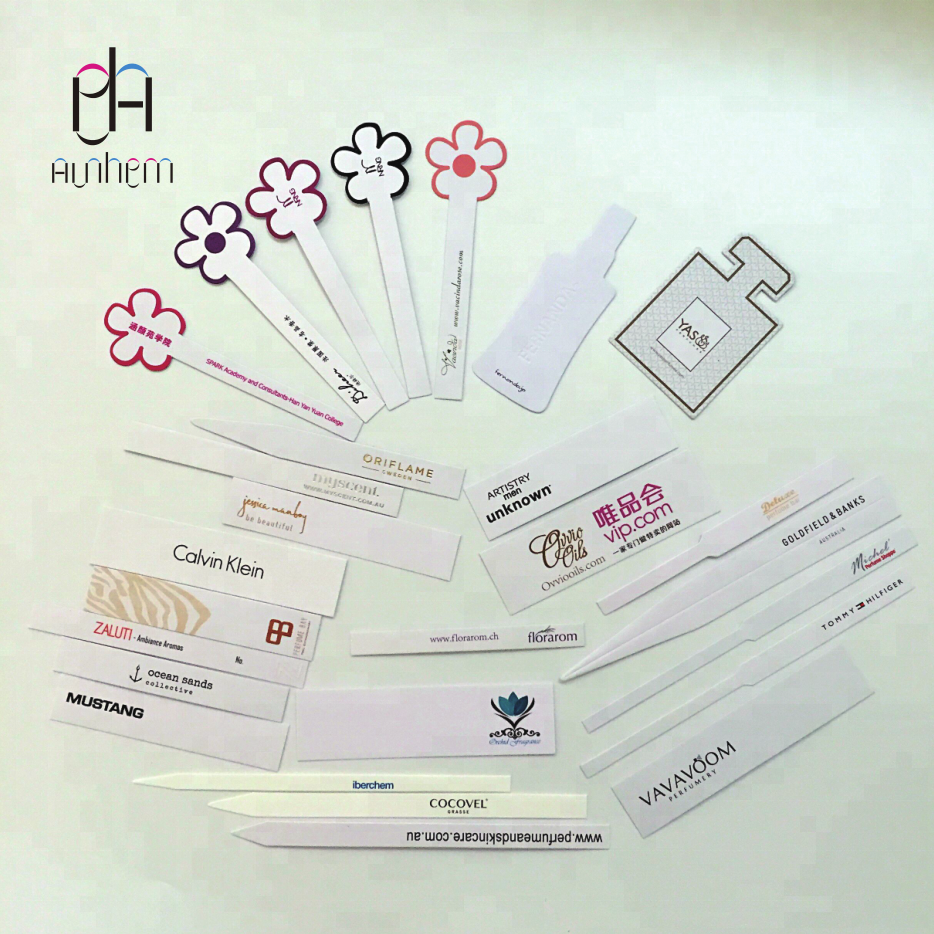 high quality cheap perfume test strip scent test strips with LOGO printing,  DL304