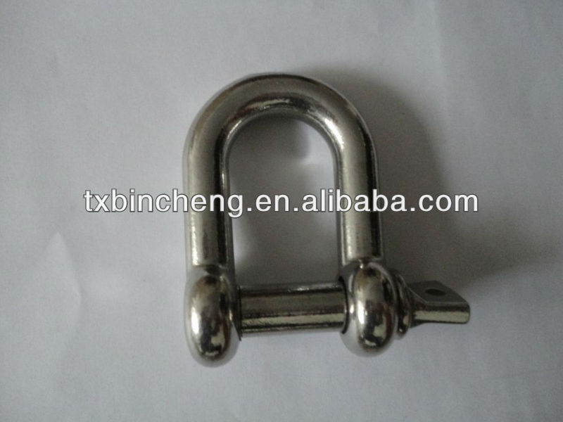 stainless steel SUS304 Marine rigging hardware D shackle