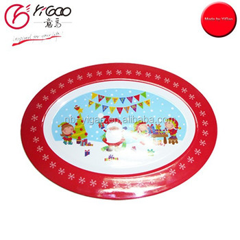 102758 Kids Dinner Oval Melamine Christmas Plate - Buy Oval ...
