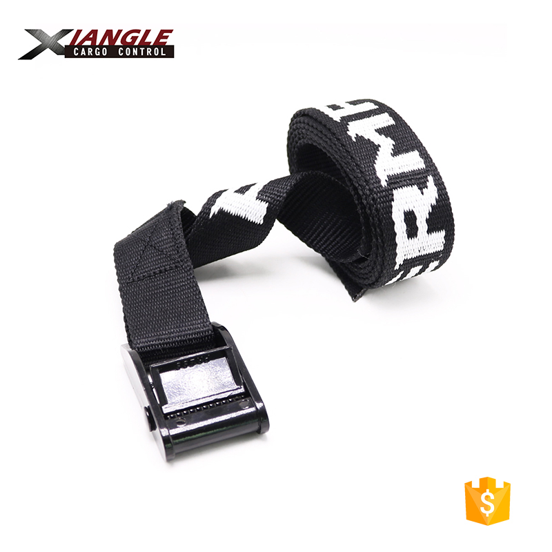 1inch 350kg 25mm 1m 3m 5m black cam buckle endless strap cargo tie down Polyester strap with logo