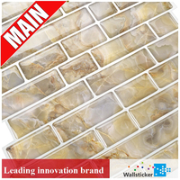 Factory home decoration self-adhesive 3d bathroom wall tile sticker