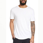 2018 Mens Clothing Basic Tshirt Solid White 100% Cotton Fabric Cheap T Shirts For Men