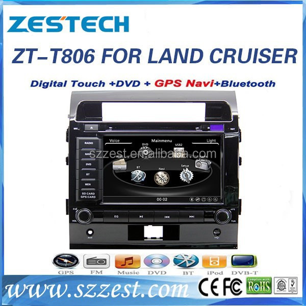 ZESTECH china car parts dvd navigation multimedia am fm mp3 player car accessories for <strong>TOYOTA</strong> LANDER CRUSIER DIESEL FJ200 <strong>PRADO</strong>