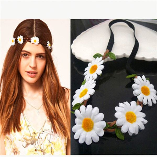 Fashion Hair Accessories Elastic Festival Holiday Parties Daisy Flower Headband