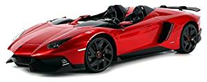Velocity Toys Licensed Lamborghini Aventador J Roadster Limited Edition Electric Remote Control Car Big 1:12 Scale Ready to Run RTR (Colors May Vary) by Velocity Toys