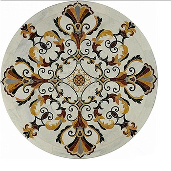 handcut product piece mosaic dorium medallion enlarge circle agape click stone info tile to