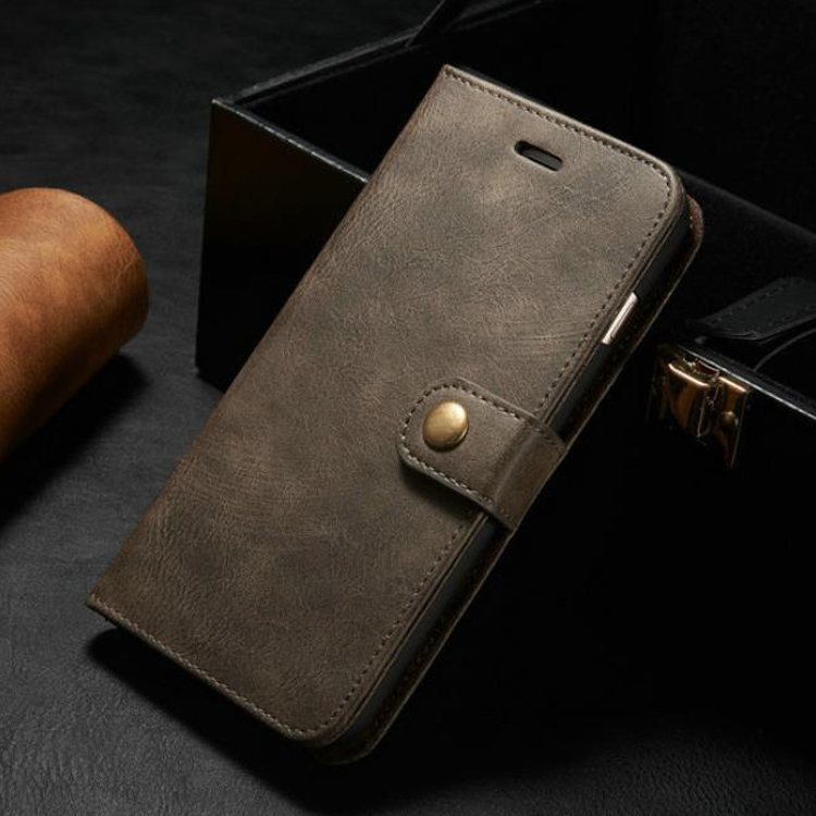 High Quality Cowskin Cover with Card Pocket for iphone 7 case leather flip