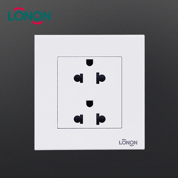 US standard 3 pin dual wall socket switch