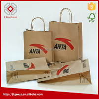 round-handle paper bag, paper bag kraft cheap