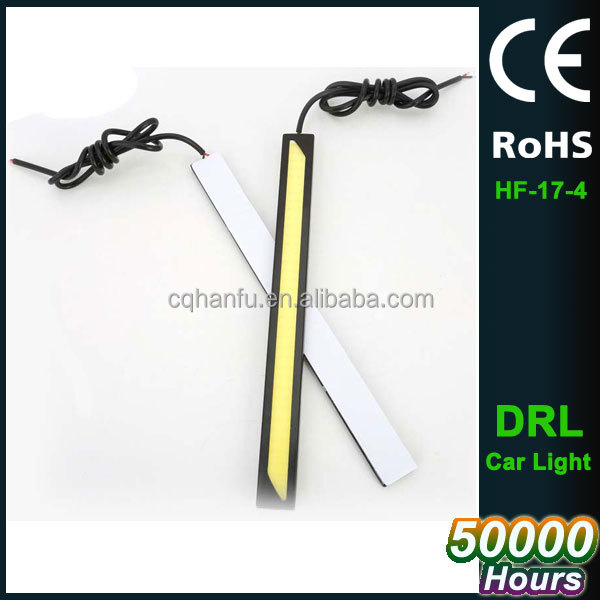 Flexible Car DRL Daytime Running Lights LED COB Day Light DRL White Turning Steering Signal Lamps