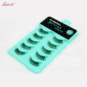 Factory supply price Green trays five pairs eyelashes with your own private packing and private labels