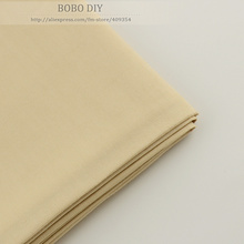 160cmx100cm/piece Light Khaki cotton Fabric for Tilda Doll Twill Cloth Patchwork Quilting bedding home textile Reactive Dyeing