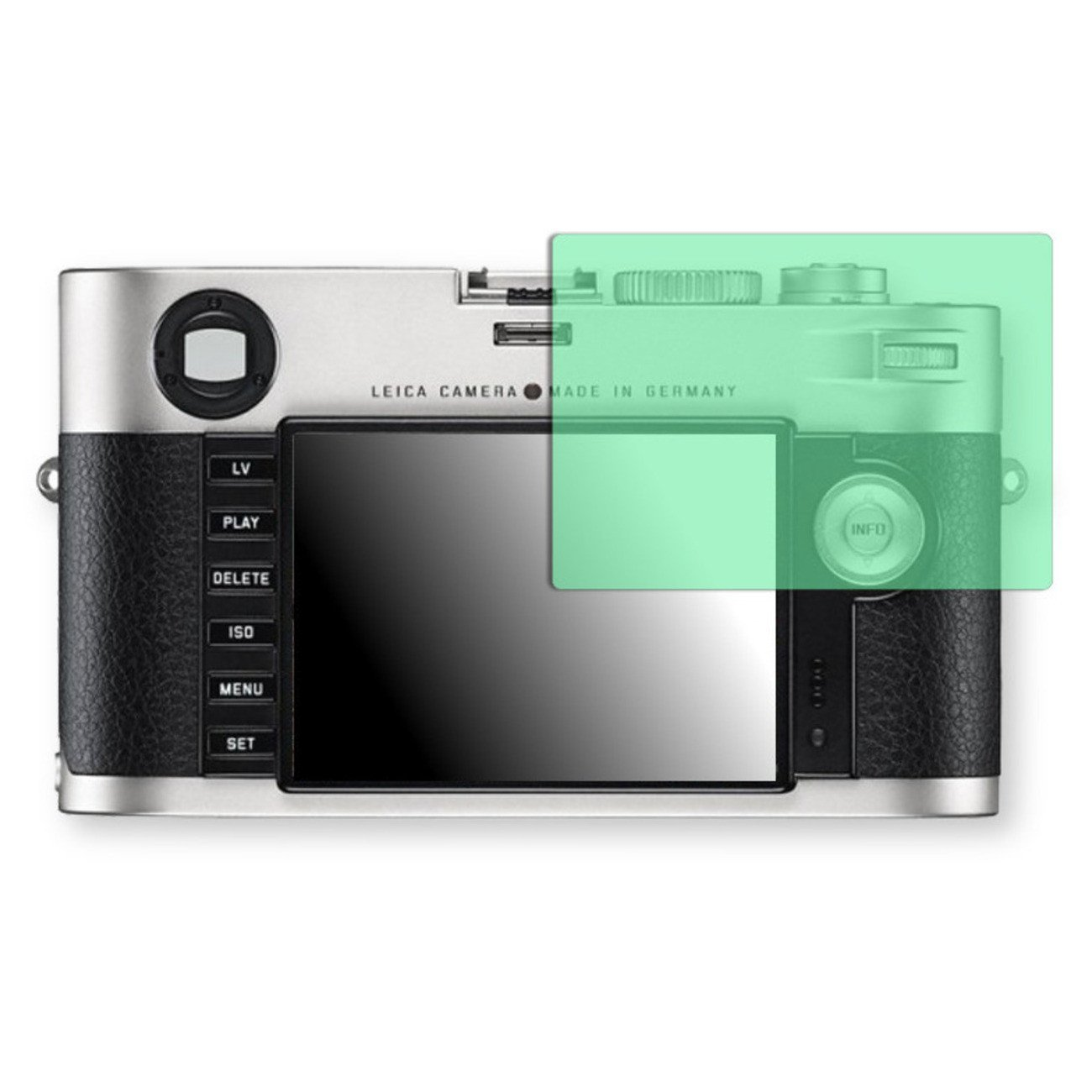 Golebo Screen Film for Privacy protection green for Leica M - PREMIUM QUALITY
