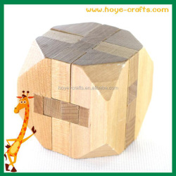 Promotive best selling products soma cube wooden 3D puzzle boston tea chest wooden puzzle