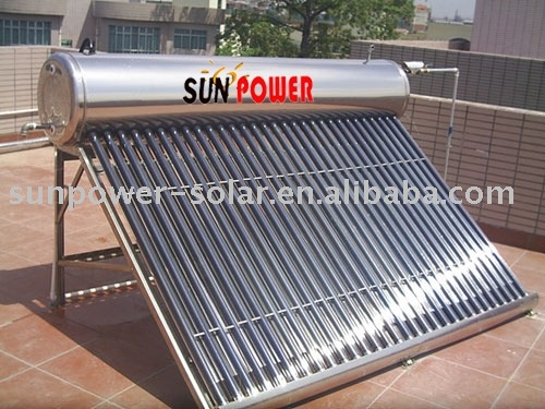 low pressure--solar water heater