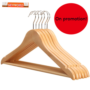 Lipu Newworld Wholesale Bulk High Quality Cheap solid Wooden Hanger With Notches