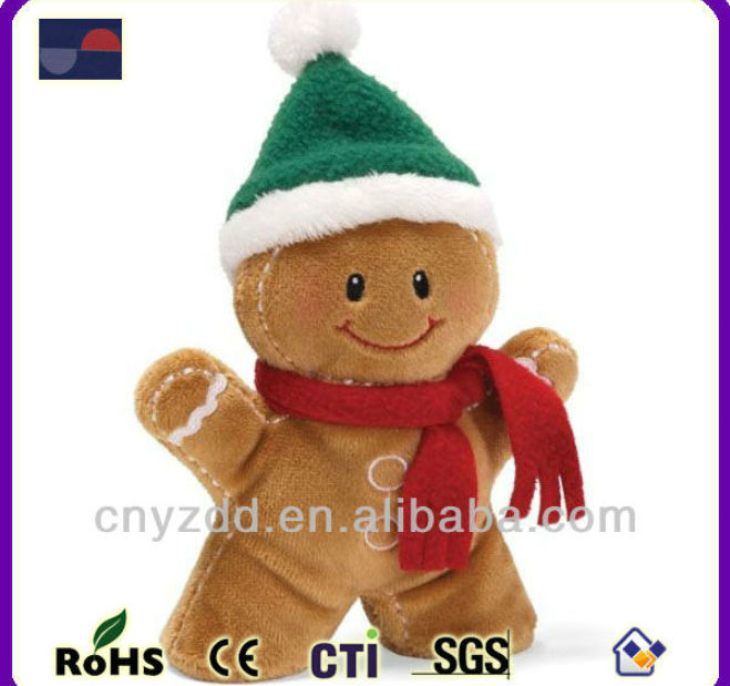 Gingerbread Man Soft Toy Plush Gingerbread Ornament For Christmas