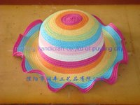 colorful straw children hat/kids straw hat/paper colorful kids hat