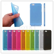 1pcs/lot High quality Soft Matte Frosted Clear Transparent case cover for iphone 6 Air 4.7 inch