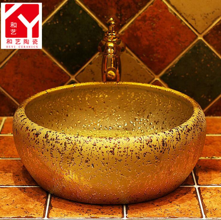 Decoración estilo champú fregadero baño lavabo lavabo de cerámica ...