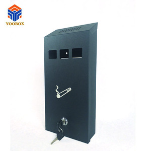 YOOBOX stainless steel ashtray bin/wall mounted ashtray/ cigarette box