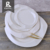 High demand products white unbreakable dinner plates with delicate design